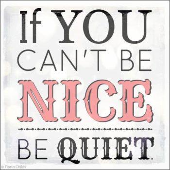 Blog Be nice!